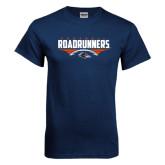 Navy T Shirt-Roadrunners Football Horizontal