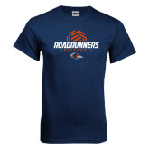 Navy T Shirt-Roadrunners Volleyball Geometric Ball