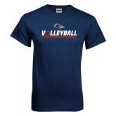 Navy T Shirt-Volleyball Bar