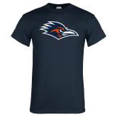 Navy T Shirt-Roadrunner Head