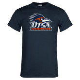 Navy T Shirt-Primary Logo Distressed
