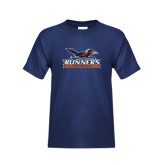 Youth Navy T Shirt-Runners Athletics