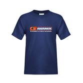 Youth Navy T Shirt-Roadrunners Bar w/ Head