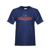 Youth Navy T Shirt-Roadrunners Football Underline