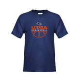 Youth Navy T Shirt-UTSA Basketball Half Ball