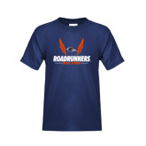 Youth Navy T Shirt-Roadrunners Track & Field Wings