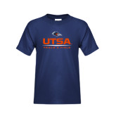Youth Navy T Shirt-UTSA Track & Field