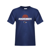 Youth Navy T Shirt-Roadrunners Volleyball Geometric Ball
