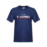 Youth Navy T Shirt-Volleyball Bar