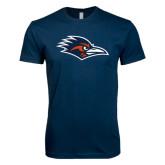 Next Level SoftStyle Navy T Shirt-Roadrunner Head