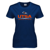 Ladies Navy T Shirt-UTSA Track & Field