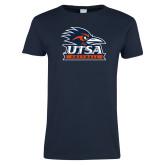 Ladies Navy T Shirt-Softball