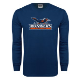 Navy Long Sleeve T Shirt-Runners Athletics