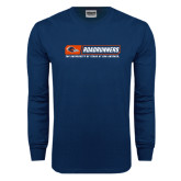 Navy Long Sleeve T Shirt-Roadrunners Bar w/ Head