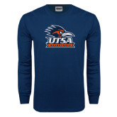 Navy Long Sleeve T Shirt-Basketball