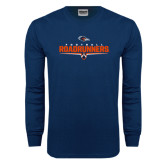 Navy Long Sleeve T Shirt-Roadrunners Football Underline