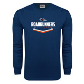 Navy Long Sleeve T Shirt-Roadrunners Baseball Plate