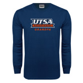 Navy Long Sleeve T Shirt-Grandpa