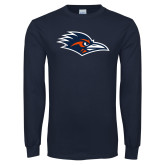 Navy Long Sleeve T Shirt-Roadrunner Head