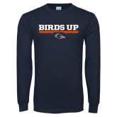 Navy Long Sleeve T Shirt-Birds Up