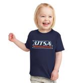 Toddler Navy T Shirt-UTSA Roadrunners Stacked