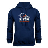 Navy Fleece Hood-Primary Logo