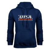 Navy Fleece Hood-UTSA Roadrunners Stacked