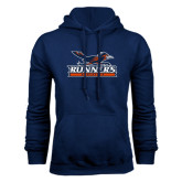 Navy Fleece Hood-Runners Athletics