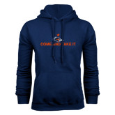 Navy Fleece Hood-Come and Take It Flat