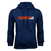 Navy Fleece Hood-Roadrunners Two Tone Diagonal