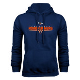 Navy Fleece Hood-Roadrunners Football Underline