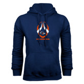 Navy Fleece Hood-Roadrunners Football Vertical