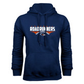 Navy Fleece Hood-Roadrunners Football Horizontal
