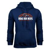 Navy Fleece Hood-Roadrunners Basketball Half Ball