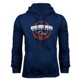 Navy Fleece Hood-Roadrunners Basketball Arched
