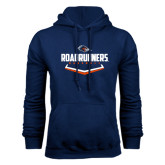 Navy Fleece Hood-Roadrunners Baseball Plate