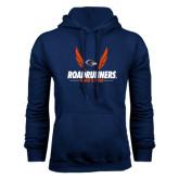 Navy Fleece Hood-Roadrunners Track & Field Wings