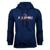 Navy Fleece Hood-Volleyball Bar
