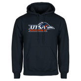 Navy Fleece Hoodie-UTSA Roadrunners w/ Head Flat
