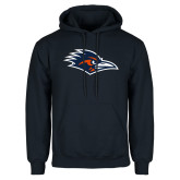 Navy Fleece Hoodie-Roadrunner Head