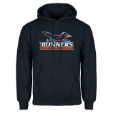 Navy Fleece Hoodie-Runners Athletics