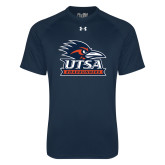 Under Armour Navy Tech Tee-Primary Logo