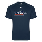Under Armour Navy Tech Tee-UTSA Roadrunners w/ Head Flat