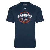 Under Armour Navy Tech Tee-Roadrunners Basketball Arched
