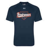 Under Armour Navy Tech Tee-Roadrunners Baseball Script w/ Plate