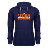 Adidas Climawarm Navy Team Issue Hoodie-Adidas UTSA Roadrunners Athletics Logo