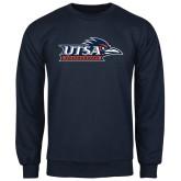 Navy Fleece Crew-UTSA Roadrunners w/ Head Flat