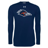 Under Armour Navy Long Sleeve Tech Tee-Roadrunner Head