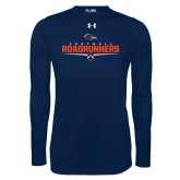 Under Armour Navy Long Sleeve Tech Tee-Roadrunners Football Underline