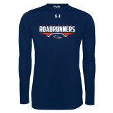 Under Armour Navy Long Sleeve Tech Tee-Roadrunners Football Horizontal